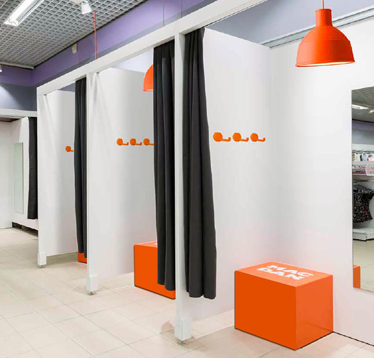 mobilier cabines d 39 essayage en magasin de pret a porter artego. Black Bedroom Furniture Sets. Home Design Ideas